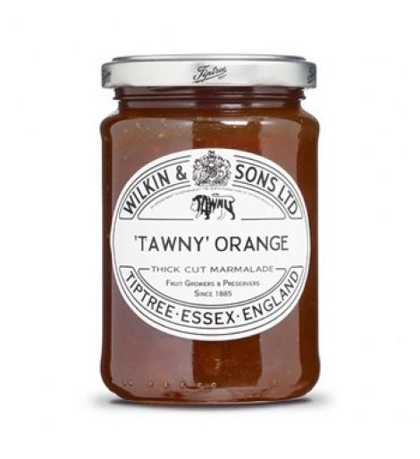 Mermelada Tawny de naranjas con triple cocción con trozos pequeños de piel de corte grueso 340 gr
