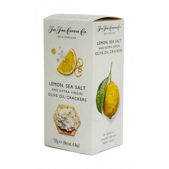 Crackers de aceite de oliva virgen extra, limón y  sal 125 gr