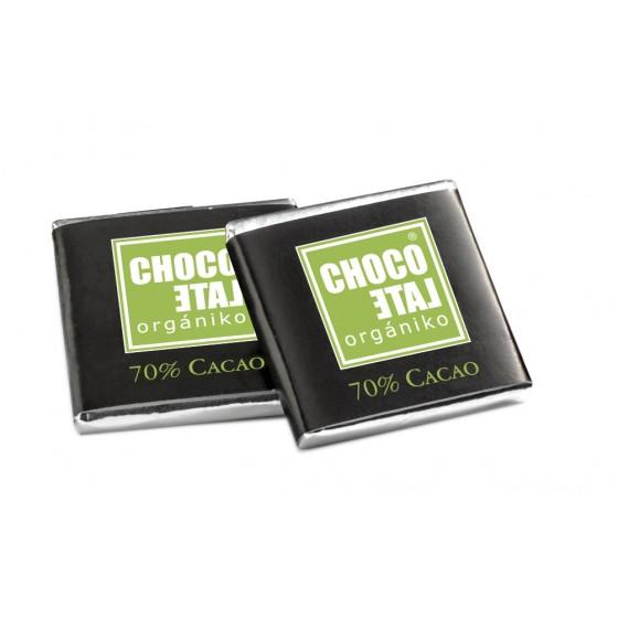 Napolitanas de chocolate negro 70% cacao BIO