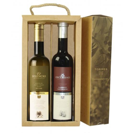 Pack de aceite de oliva virgen extra picual y vinagre de cabernet sauvignon | 2 botellas de 50 cl