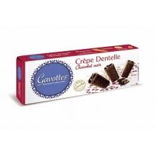 Crêpe Dentelle recubiertos de chocolate negro 90 gr