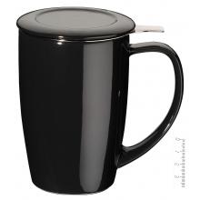 Taza de Té con filtro 45 cl. - Negra