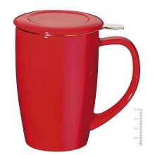 Taza de Té con filtro 45 cl- - Roja