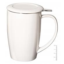 Taza de Té con filtro 45 cl. - Blanca