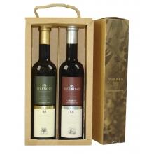 Pack  de aceite Arbequina y vinagre Cabernet Sauvignon