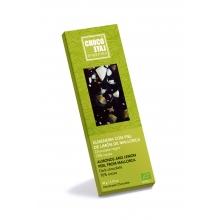 Chocolate negro 70% cacao, almendra con piel de limón de Mallorca BIO 50 gr
