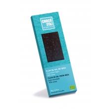 Chocolate negro 70% cacao, Flor de sal de Ibiza BIO 50 gr